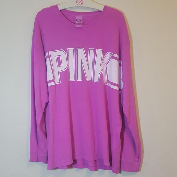 25321e0b11b7f VS PINK L Oversized Logo Campus Shirt